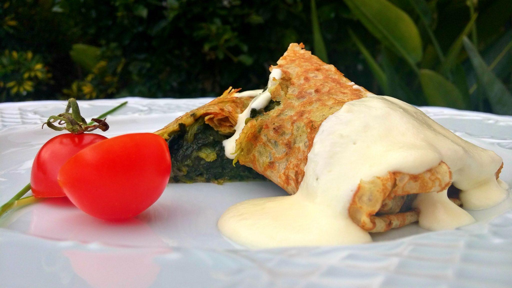 Crep Espinacas vegetariano