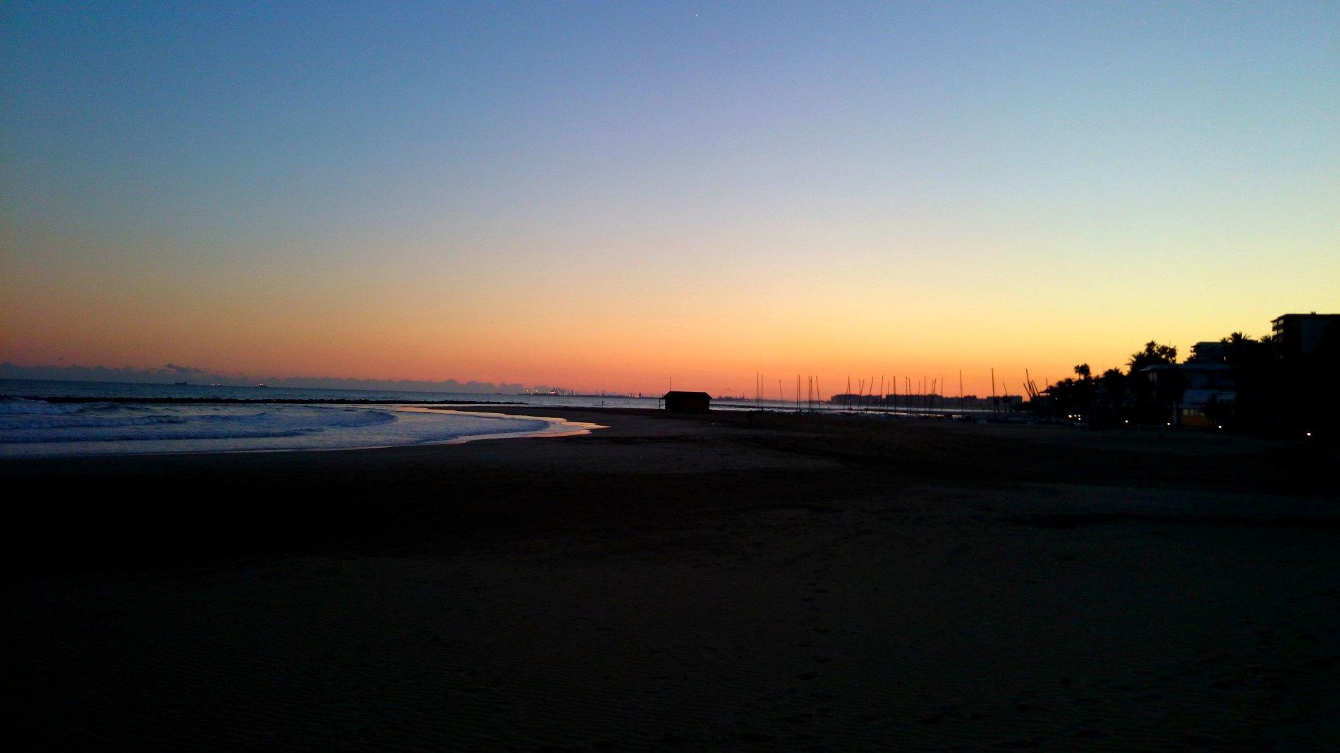 Playa noche