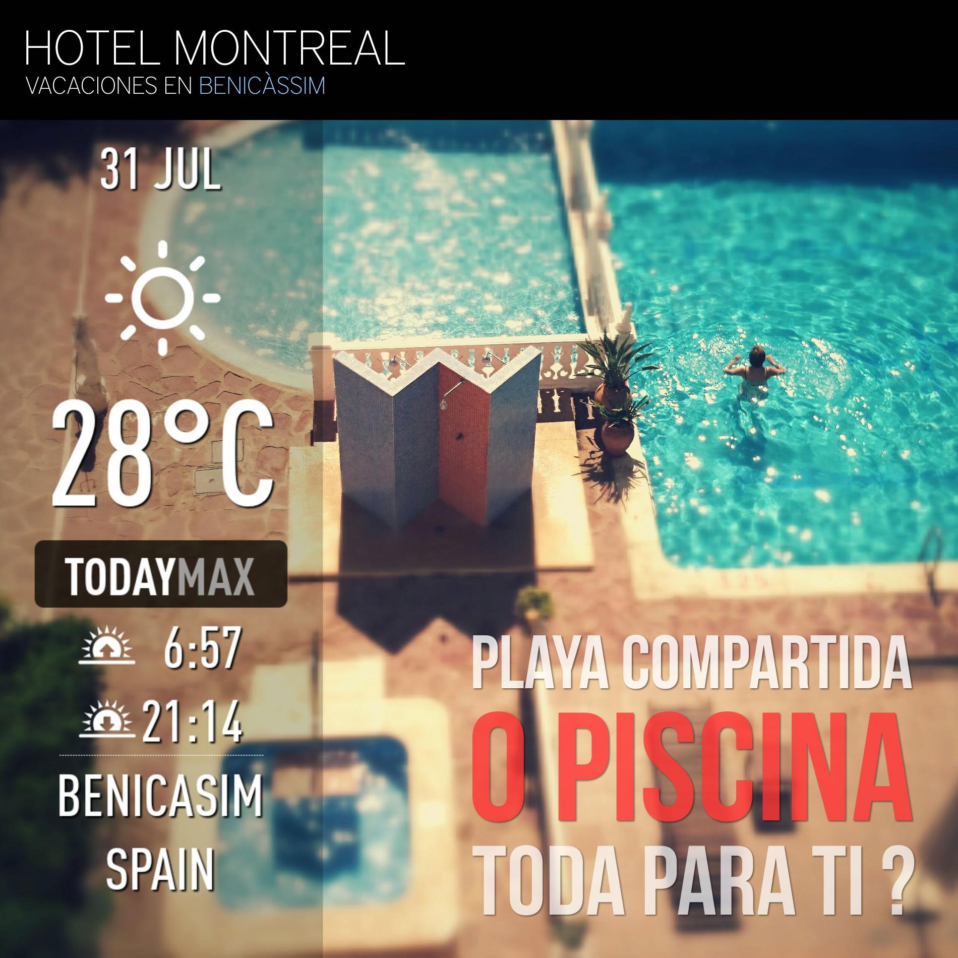 Playa heli polis benic ssim castell n hotel montreal for Piscina benicassim