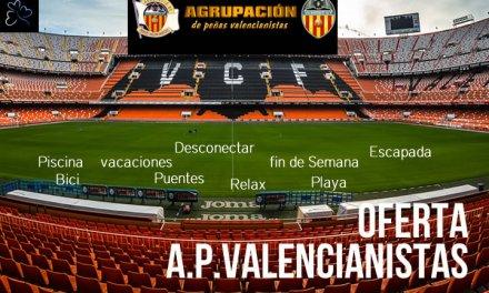 Oferta Agrupación de Peñas Valencianistas 2018